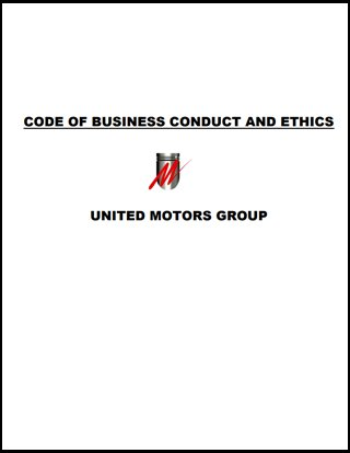 Cover Page for Code of Business Conduct