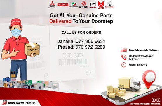 Get all your genuine parts delivered to your door step