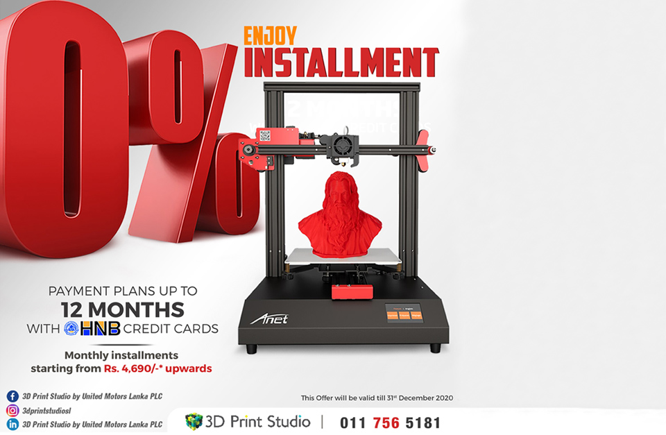 Enjoy 0% installment at 3D Print Studio
